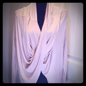 NWT- Long Sleeve Wrap Front Top